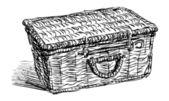 Picnic basket — Stock Vector