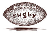 Rugby Ball — Stock Vector