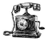 Telefone vintage — Vetor de Stock