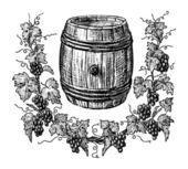 Wine cask — Stock Vector