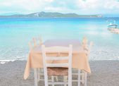 The restaurant on the Greek island — Stock Photo