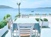 Restaurangen på den grekiska ön — Stockfoto