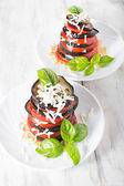 Baked eggplant with tomato — Stock Photo