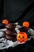 Halloween chocolate cupcake  — Stock Photo