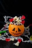 Halloween dessert for children's party — Stock Photo