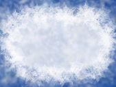 Синий Зимний фон со снежинками — Стоковое фото
