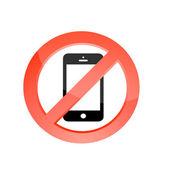 No telephones allowed — Stock Photo