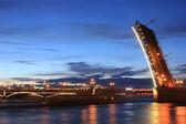Trinity bridge ,St Petersburg — Stock Photo