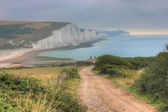 Cliffs of the seven sisters, UK — Stock Photo