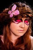 Woman with beautiful makeup — Stock Photo