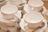 White crockery — Stock Photo