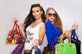 Women with bags — Stock Photo
