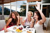 Women in restaurant — Stock Photo