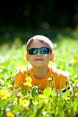 Boy in sunglasses — Stock Photo