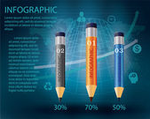 Infographic Template with pencil .  — Vector de stock