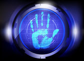 Scan hand print technology — Stockvector