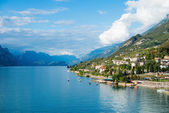 Lake Garda is the largest lake in Italy. It is located in Northe — Stock Photo