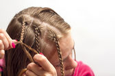Doing a hair c — Stock Photo