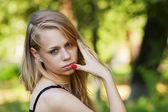 Garota com olhos azuis — Fotografia Stock