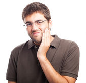 Man suffering from tooth pain — Stock Photo