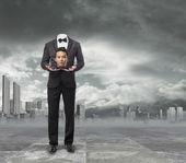Asian business man without head — Stock Photo
