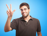 Man counting with fingers — Stock Photo