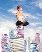 Student mediterar — Stockfoto