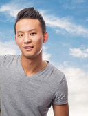 Handsome young asian man — Stock Photo