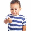 Kid with thumb up — Stock Photo #47360983