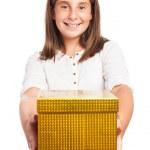 Girl holding box — Stock Photo #47362367