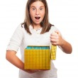 Girl holding box — Stock Photo #47373125