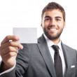 Businessman offering his contact card — Stock Photo #47377375