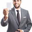 Businessman offering his contact card — Stock Photo #47377401
