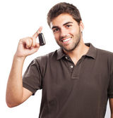 Young man with car keys — Stock Photo