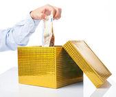 Business man, corruption metaphor — Stock Photo