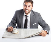 Businessman having a break — Stock Photo