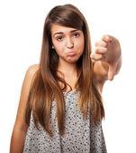 Woman expressing negativity — Stock Photo