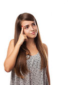 Young woman doubting — Stock Photo