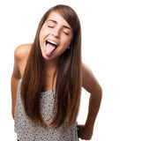 Woman doing grimace — Stock Photo