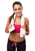 Woman with towel — Stock Photo