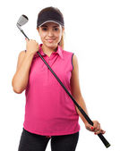 Femme tenue golf club — Photo