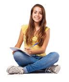 Vrouw huiswerk — Stockfoto