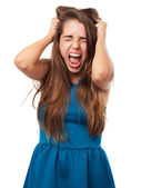 Young woman stressed — Stock Photo
