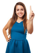 Woman counting gesture — Stock Photo