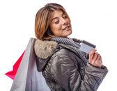 молодая женщина покупки — Стоковое фото