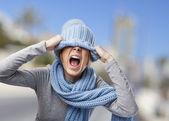 Kadın kaplama kafası — Stok fotoğraf