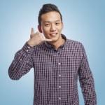 Man doing call gesture — Stock Photo #47461963