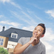 Man thinking about house — Stock Photo #47467499