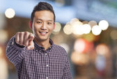 Man pointing — Stock Photo
