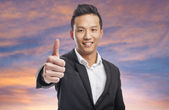 Business man with thumb up — Stock Photo